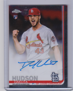 2019 Topps chrome dakota hudson