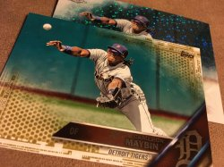 2016 Topps UpDate Gold&Bubble ReFractor  CAMERON MAYBIN #HMT14 Detroit Tiger Angels OF