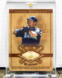2001 Upper Deck SP Game Bat Milestone Edition Ichiro Suzuki w/ Game Used Bat