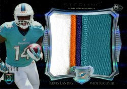 2014 Playoff Sterling Jumbo Patch Black Refractors Jarvis Landry Rookie Jersey