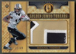 2017 Panini Gold Standard Golden Jumbo Threads Prime Michael Thomas