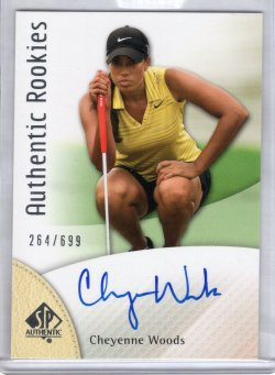2013 Upper Deck SP Authentic Cheyenne Woods