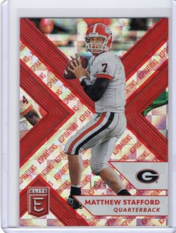 2018 Panini Elite Aspirations-Red Mattthew Stafford