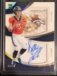 2019 Panini Immaculate Collection Immaculate Rookie Shadowbox Signatures #4 Drew Lock/99