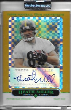 2005 Topps Chrome Gold Xfractor Rookie Autograph - Heath Miller