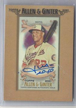 2021 Topps Allen & Ginter Juan Soto Autograph