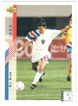 1994 Upper Deck World Cup Contenders Mia Hamm