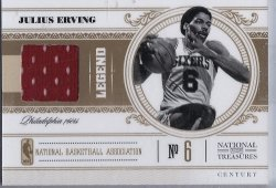 2011 Panini national treasures #101 julius erving