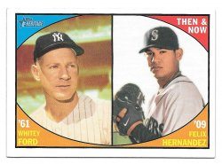 2010 Topps Topps Heritage Then and Now Whitey Ford and Felix Hernandez