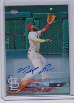 2018 Topps topps chrome update marcell ozuna refractor auto