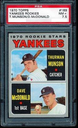 1970 Topps Rookie Stars Thurman Munson