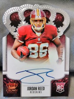 2013 Panini Crown Royale Jordan Reed Rookie Panini's Choice Signatures Silver
