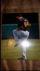 Derek Law 8x10 Photo IP Autograph
