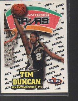 1998 Skybox NBA Hoops Rookie Tim Duncan 166