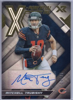 2019 Panini XR Mitchell Trubisky X-Ponential Ink