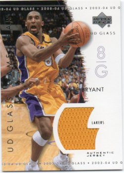 2003-04 Upper Deck UD Glass Bryant, Kobe - Game Gear