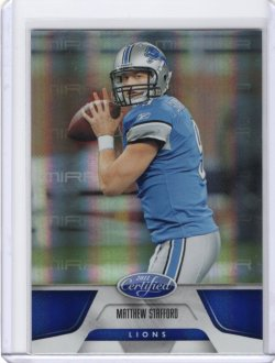2011 Panini Certified- Mirror Blue Insert Matthew Stafford