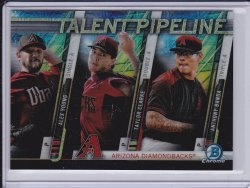 Anthony Banda, Taylor Clarke, and Alex Young 2017 Bowman Chrome Mega Box Talent Pipeline Refractor