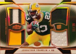 2013 Topps Prime Johnathan Franklin Quad Relics Copper Rainbow
