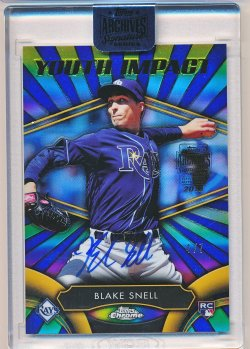 Blake Snell 2018 Topps Archives Signature Series 2016 Topps Chrome Youth Impact Buyback Autograph /7