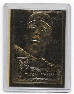 1996 Topps  Mickey Mantle 22KT Gold 1952 Topps Reprint