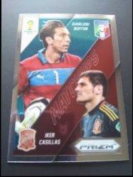 2014 Panini Prizm FIFA World Cup  - World Cup Matchups #23 Casillas Buffon