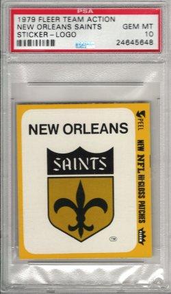 1979 Fleer  New Orleans Saints Team Action Sticker - Logo