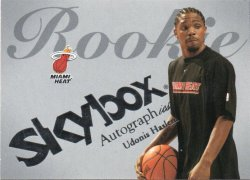 2003-04 Fleer SkyBox Autographics Haslem, Udonis - Insignia Silver