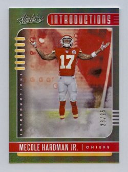 2019 Absolute Introductions Spectrum Green #15 Mecole Hardman Jr./25