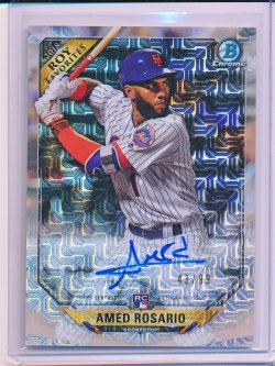 Amed Rosario 2018 Bowman Chrome Mega Box Rookie of the Year Favorites Autographs Refractor /99