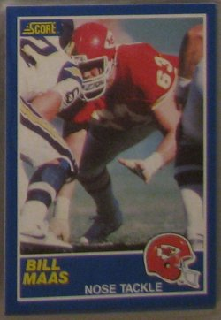 1989 Score  #26 - Bill Maas