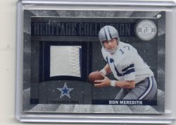 2011 Panini Totally Certified Don Meredith Heritage Colletion patch