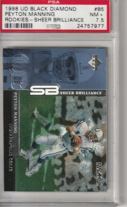 1998 Upper Deck Black Diamond Peyton Manning