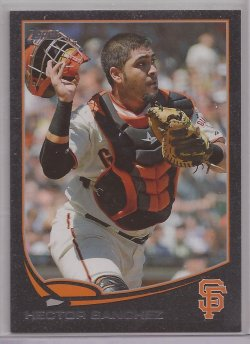 2013 Topps Series 2 Black Hector Sanchez