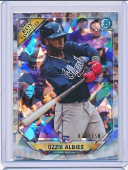 Ozzie Albies 2018 Bowman Chrome Rookie of the Year Favorites Atomic Refractor /150