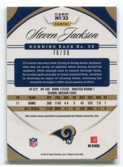 2011 Panini Certified Steven Jackson Blue Jersey Back