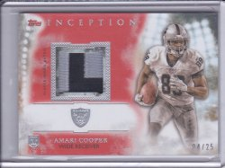 Amari Cooper 2015 Topps Inception Rookie Relics Patch Orange /25
