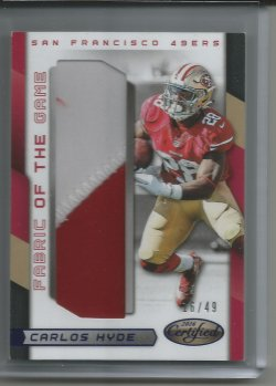 2016 Panini Certified Fabric of the Game Carlos Hyde