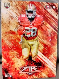 2014 Topps Fire Carlos Hyde Rookie Card