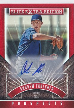 2015 Andrew Faulkner Elite Extra Edition Prospects Auto RC   Rangers A8636