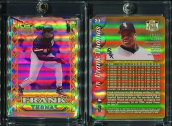 1999  Topps Stars & Steel Gold Holographic Domed Frank Thomas