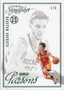 2012-13 Panini Signatures Parsons, Chandler - Rookies Green