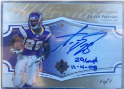 2008  Ultimate Collection Adrian Peterson Inscription Auto