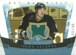 2006/07 Fleer Hot Prospects Hot Materials Red Hot Selanne