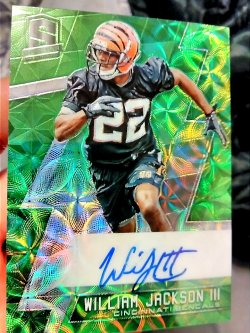 2016 Panini Spectra William Jackson lll Rookie Signatures Neon Green Prizm