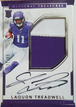 2016 Panini National Treasures Laquon Treadwell RPA