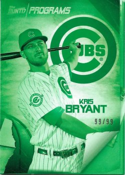 2017 Topps Bunt Programs Green Bryant