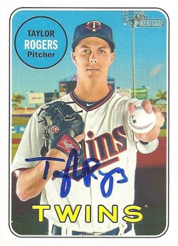 2018 Topps Heritage IP Auto Taylor Rogers