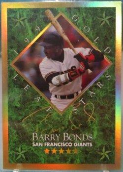 1994 Leaf  Barry Bonds gold leaf stars