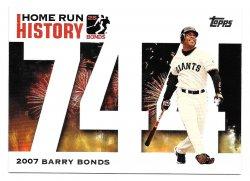 2005 Topps Topps Barry Bonds Home Run History Barry Bonds (Home Run #744)